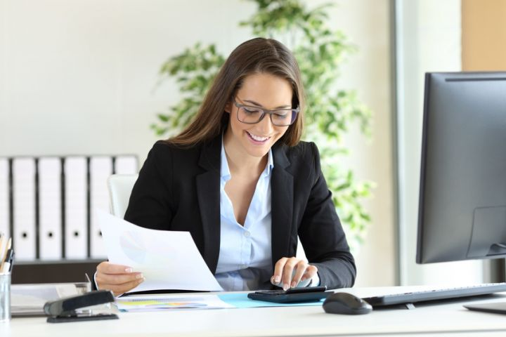 Kauffrau Mann Für Büromanagement