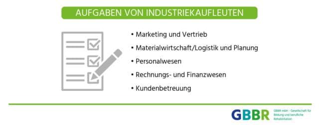 Aufgaben von Industriekaufleuten